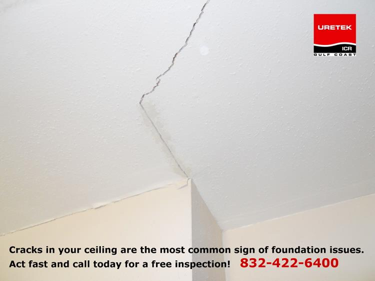 Foundation problem ceiling crack
