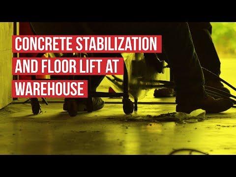 URETEK Stabilizes Concrete and Lifts Warehouse Floor