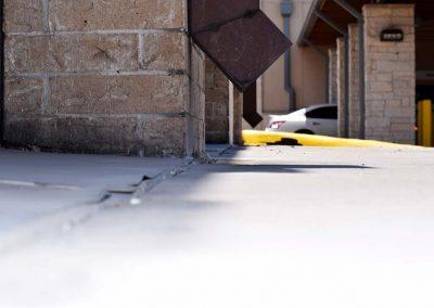 Houston Kwik Kar concrete lift after URETEK