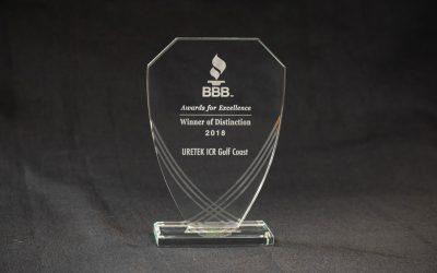 URETEK ICR Gulf Coast Receives Seventh Winner of Distinction Award from Better Business Bureau