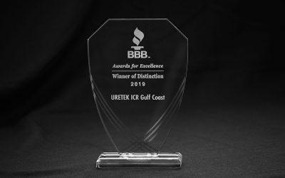 Better Business Bureau Recognizes URETEK ICR Gulf Coast with Winner of Distinction Award