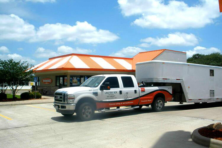 foundation repair in Victoria, TX at Whataburger