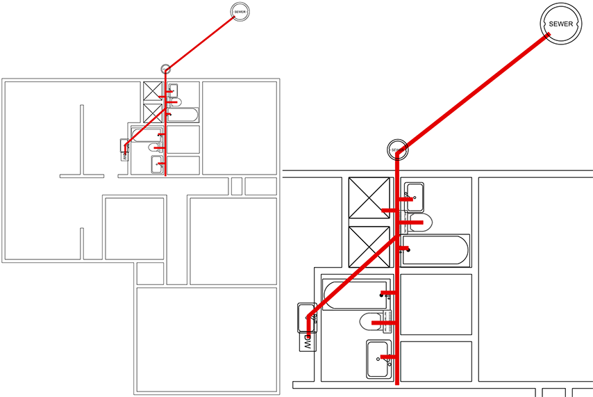 diagram for plumbing under slab foundation