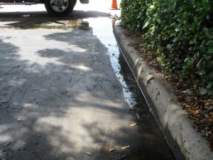parking lot drainage issue