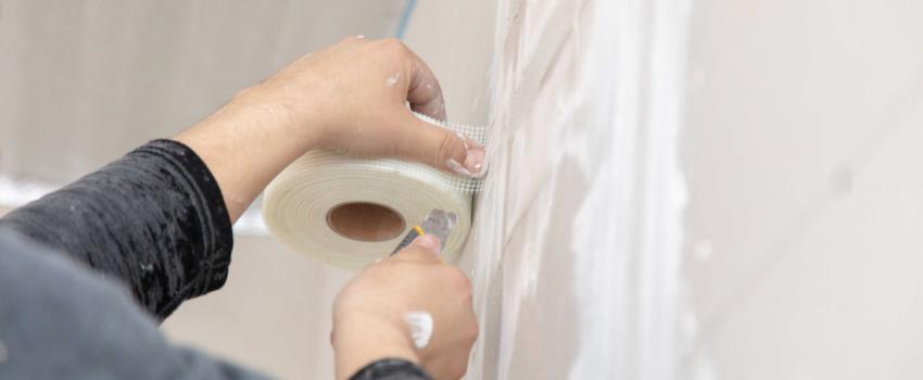 retaping drywall crack repair